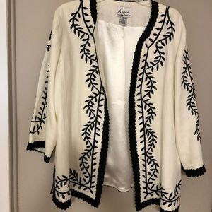 Dell'Ollio Embroidered Jacket Fully Lined Size XL